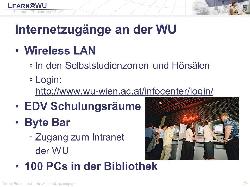 Internetzugänge an der WU
