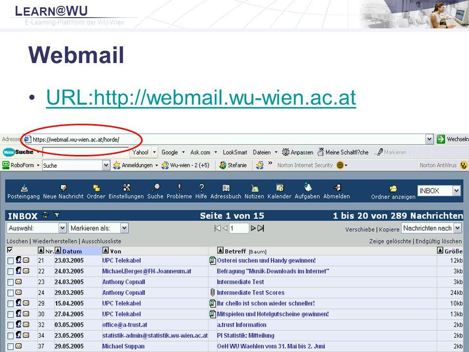 Webmail URL:http://webmail.wu-wien.ac.at