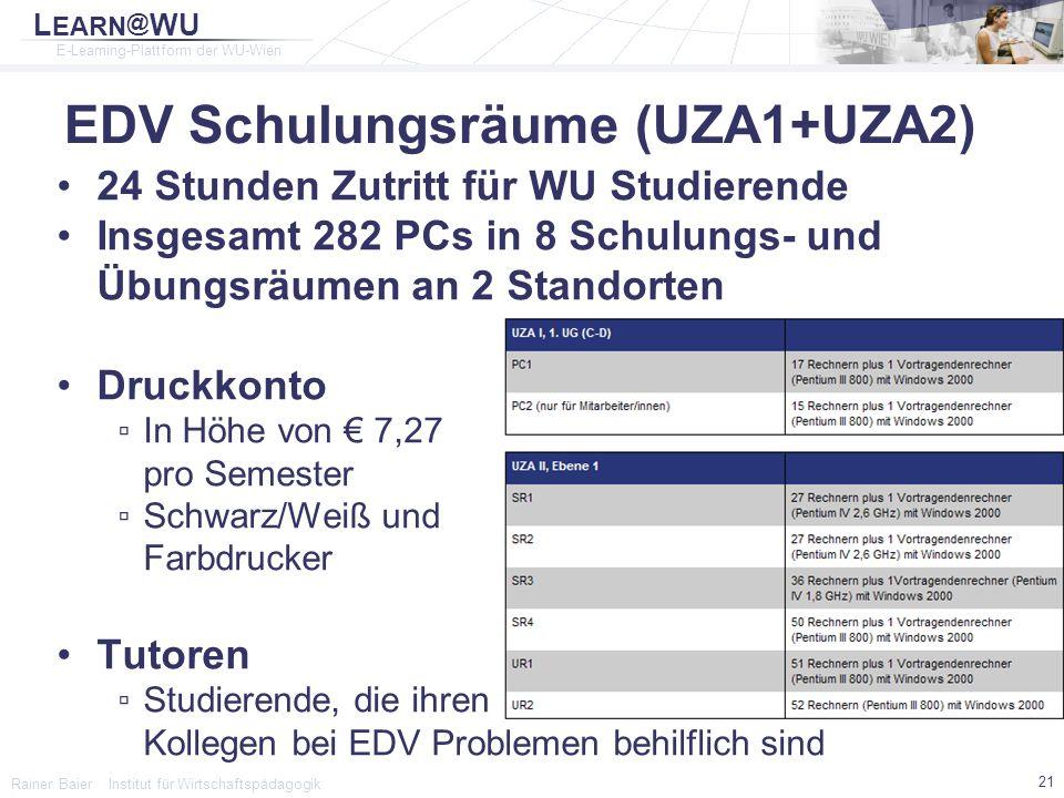 EDV Schulungsräume (UZA1+UZA2)
