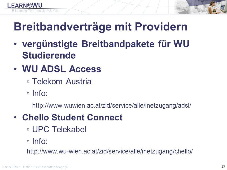 Breitbandverträge mit Providern