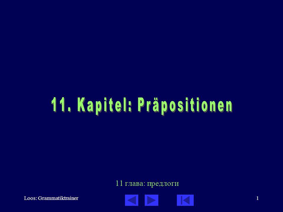 11. Kapitel: Präpositionen