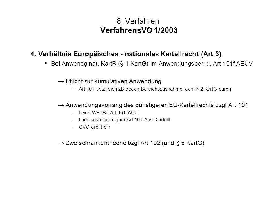 8. Verfahren VerfahrensVO 1/2003