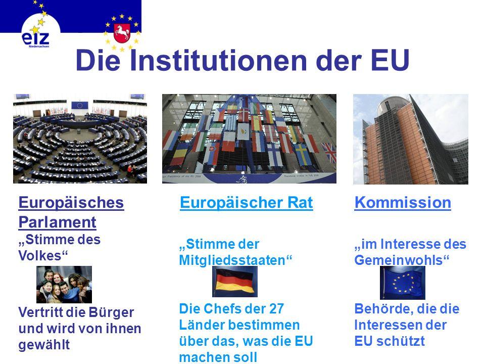 Die Institutionen der EU