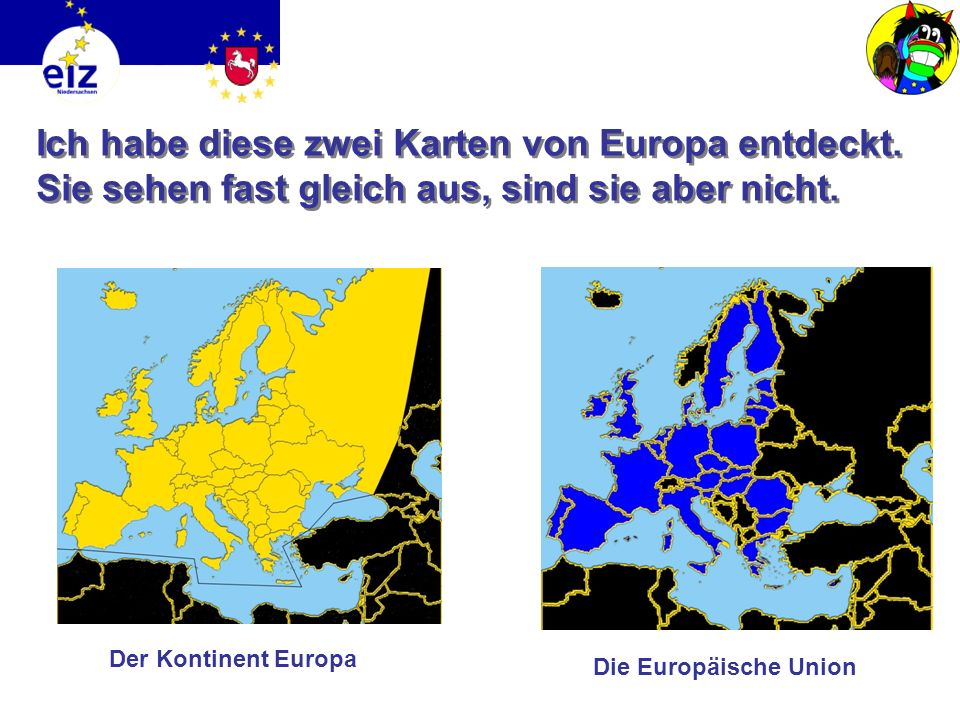 Ich habe diese zwei Karten von Europa entdeckt