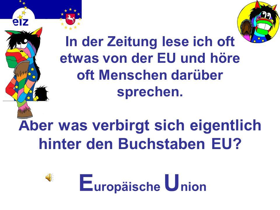 Aber was verbirgt sich eigentlich hinter den Buchstaben EU