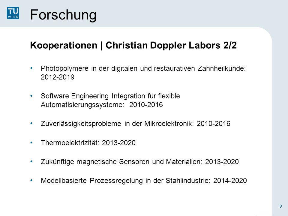Forschung Kooperationen | Christian Doppler Labors 2/2