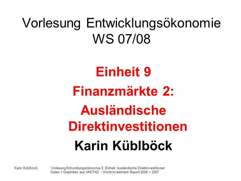 Vorlesung Entwicklungsökonomie WS 07/08