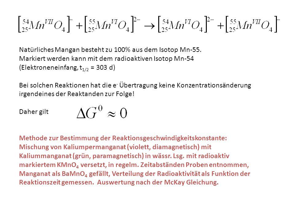 Natürliches Mangan besteht zu 100% aus dem Isotop Mn-55.