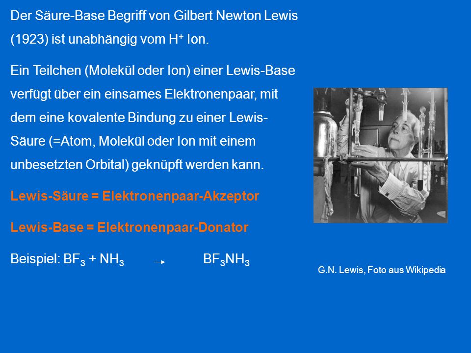 Lewis-Säure = Elektronenpaar-Akzeptor