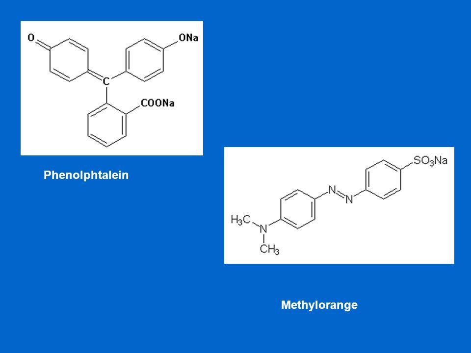 Phenolphtalein Methylorange
