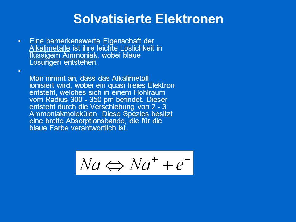 Solvatisierte Elektronen