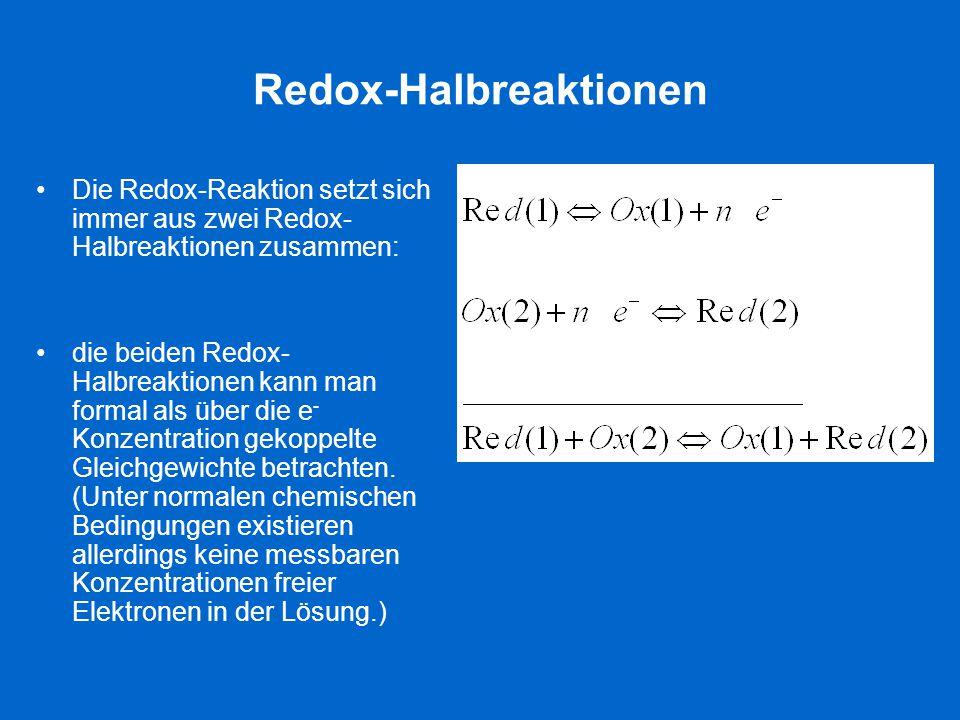 Redox-Halbreaktionen