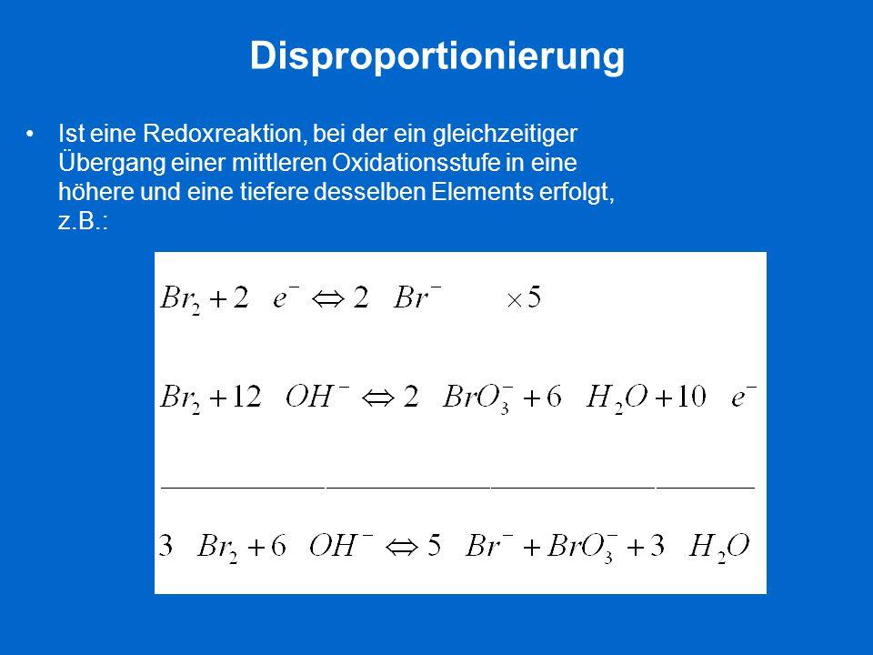 Disproportionierung