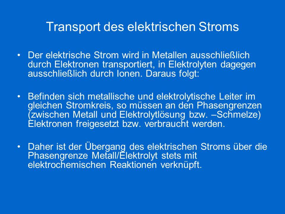 Transport des elektrischen Stroms