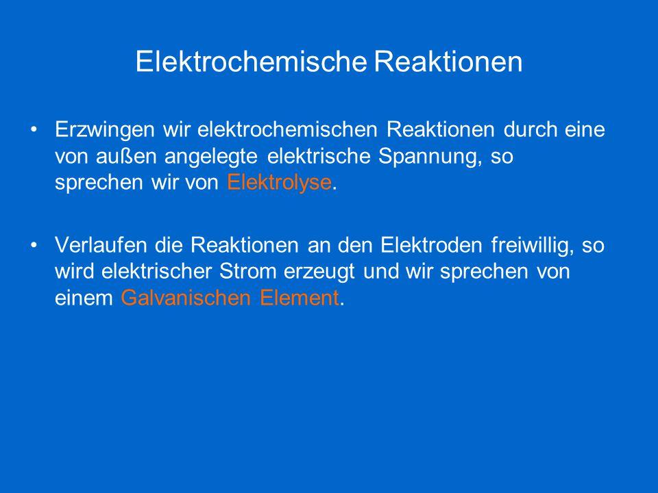 Elektrochemische Reaktionen