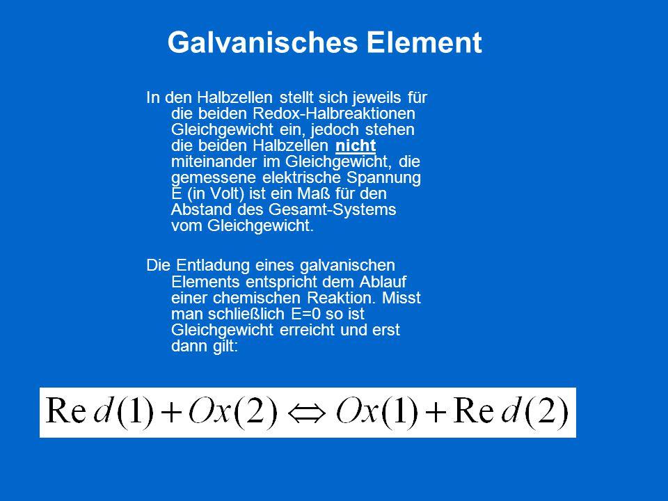 Galvanisches Element
