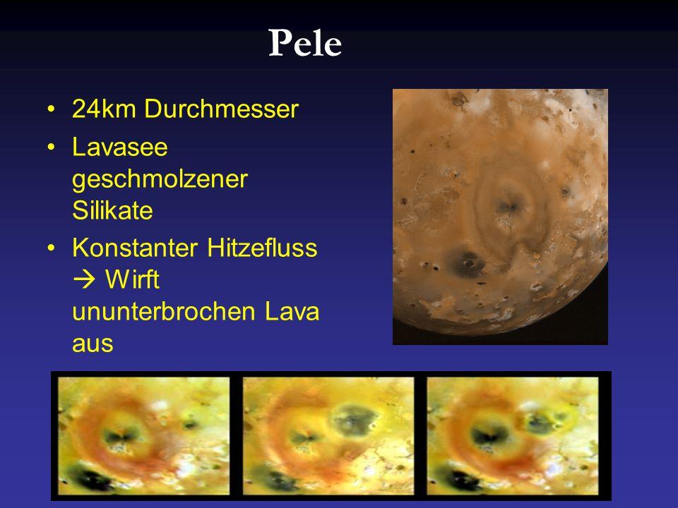 Pele 24km Durchmesser Lavasee geschmolzener Silikate