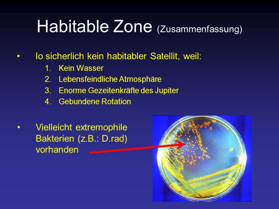 Habitable Zone (Zusammenfassung)