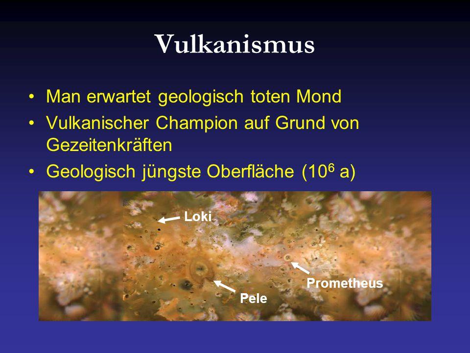 Vulkanismus Man erwartet geologisch toten Mond