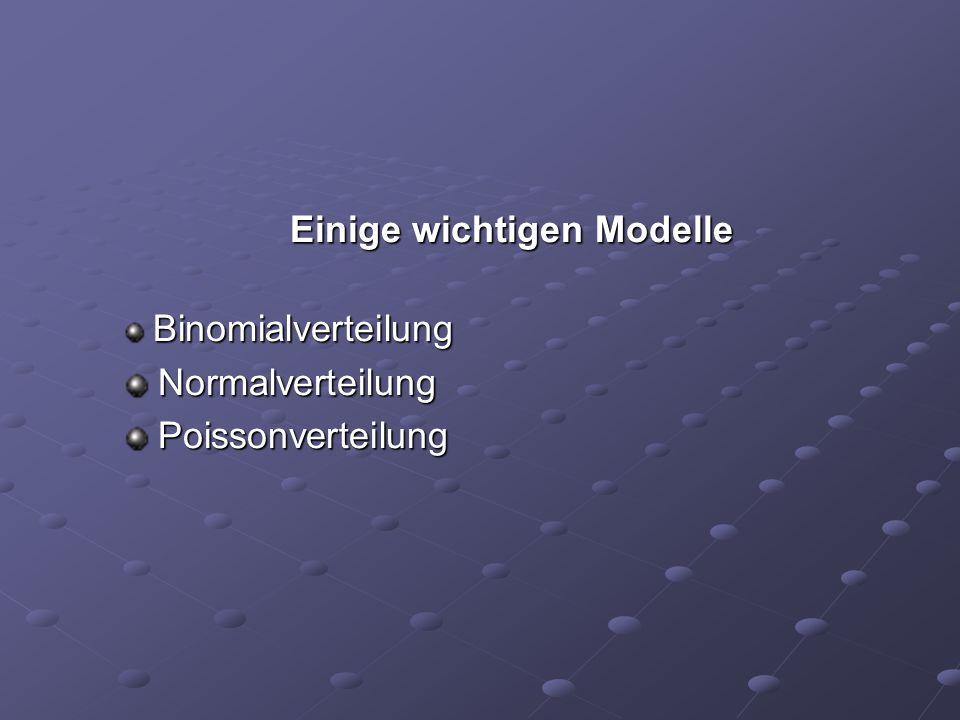 Einige wichtigen Modelle