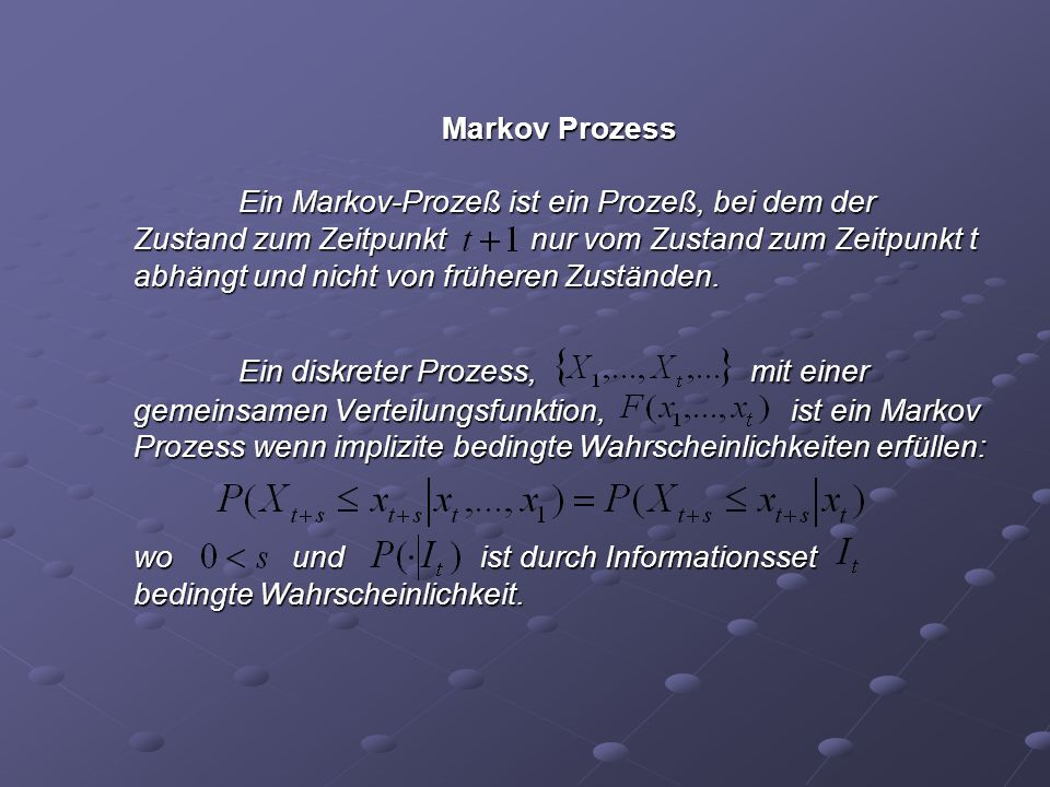 Markov Prozess