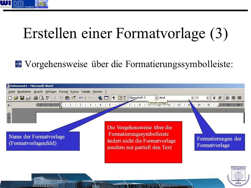 Erstellen einer Formatvorlage (3)