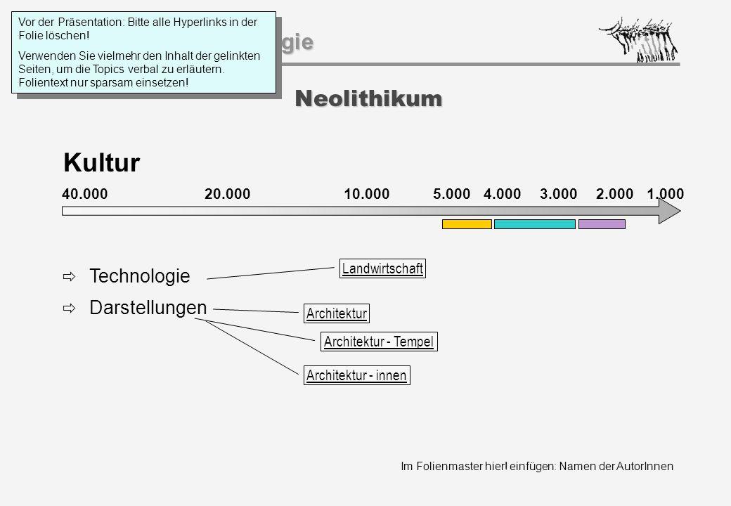 Kultur Neolithikum Technologie Darstellungen 40.000 20.000 1.000
