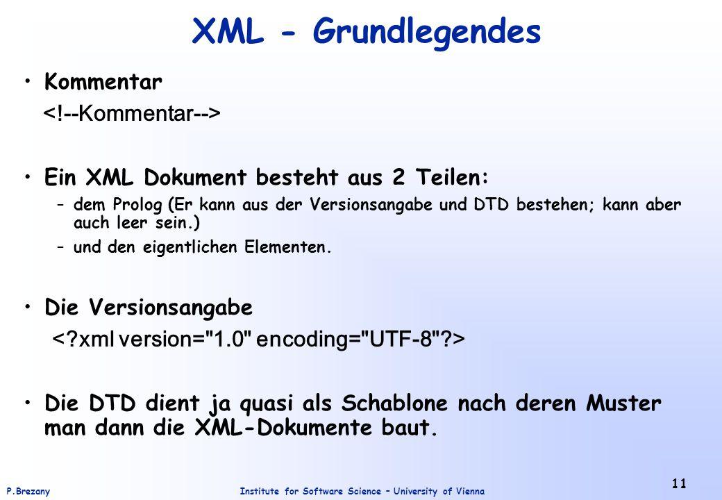 XML - Grundlegendes Kommentar <!--Kommentar-->