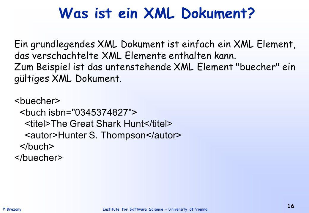 Was ist ein XML Dokument