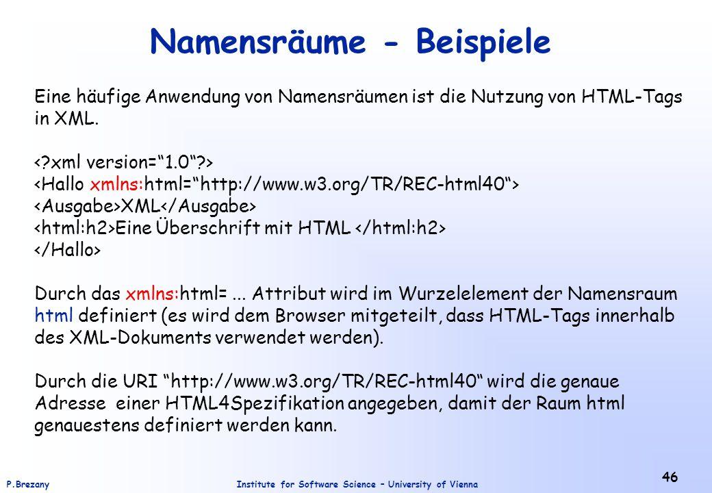 Namensräume - Beispiele