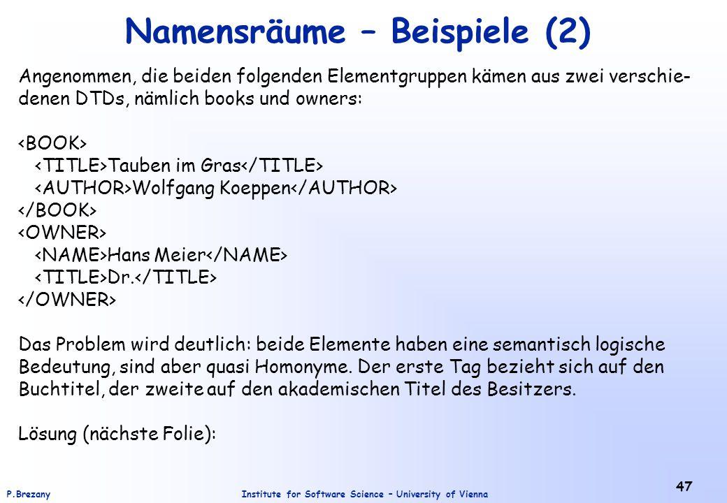 Namensräume – Beispiele (2)