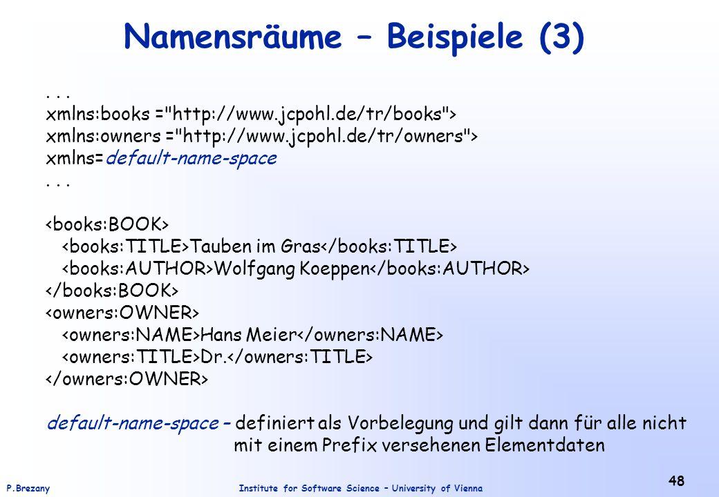 Namensräume – Beispiele (3)