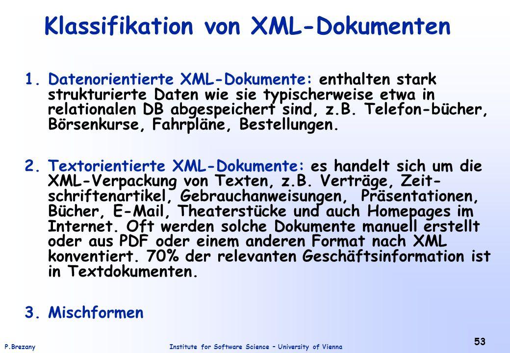 Klassifikation von XML-Dokumenten