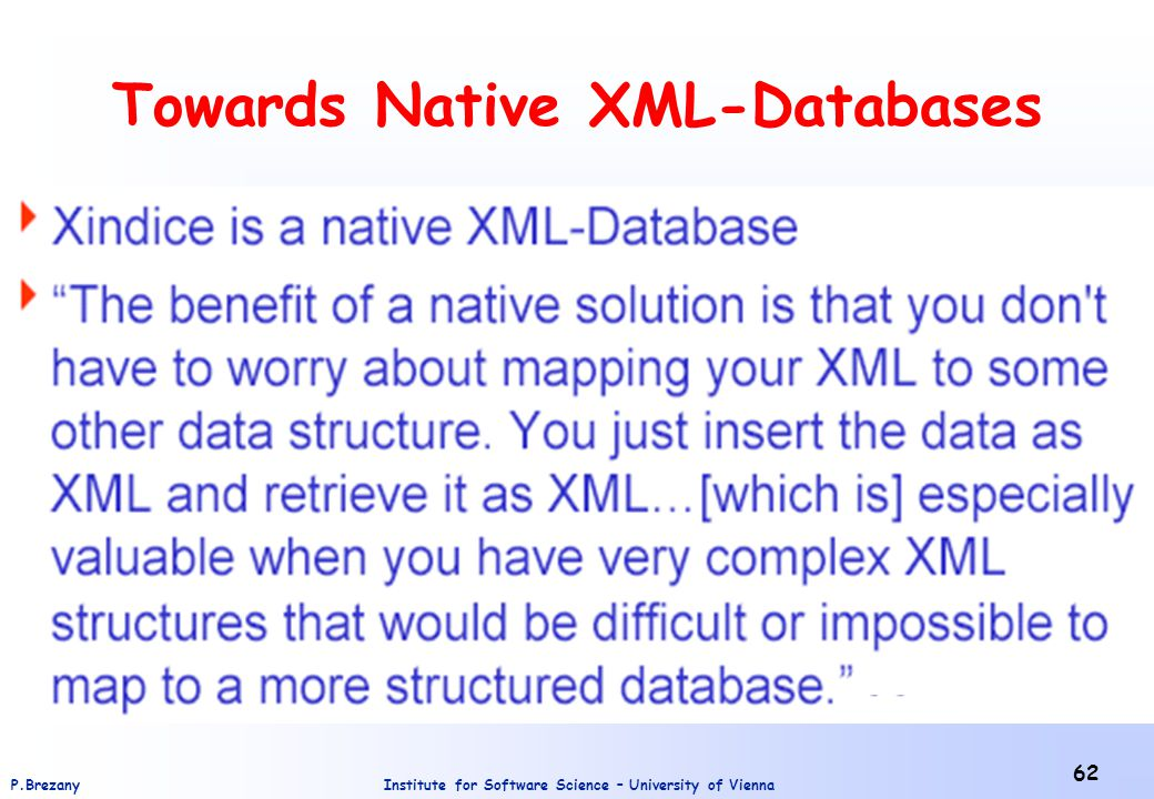 Towards Native XML-Databases