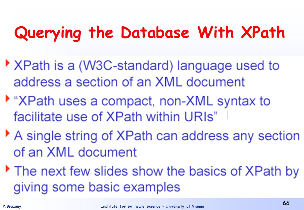 Querying the Database With XPath