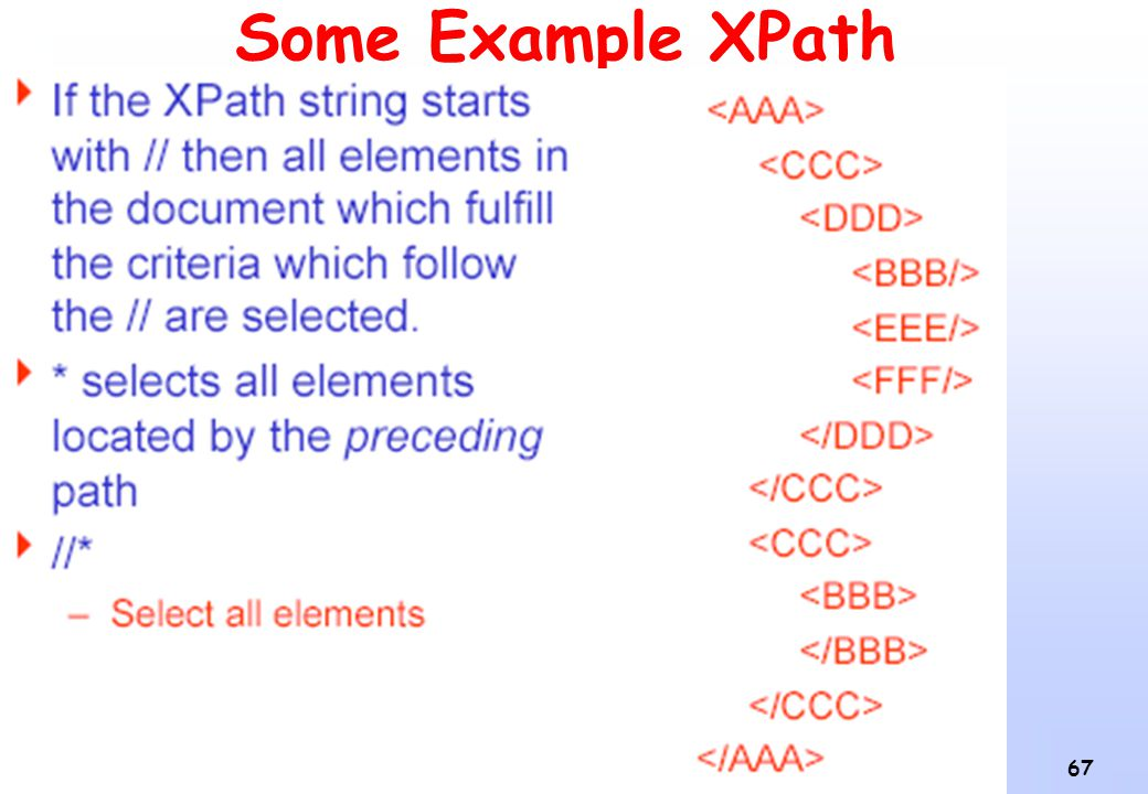Some Example XPath