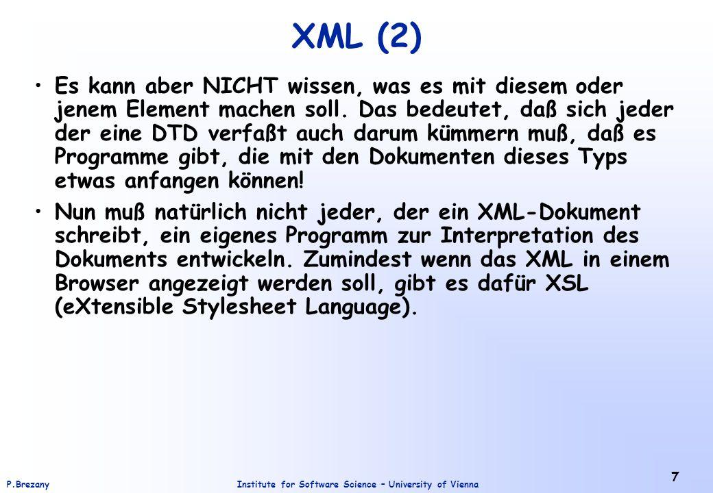 XML (2)