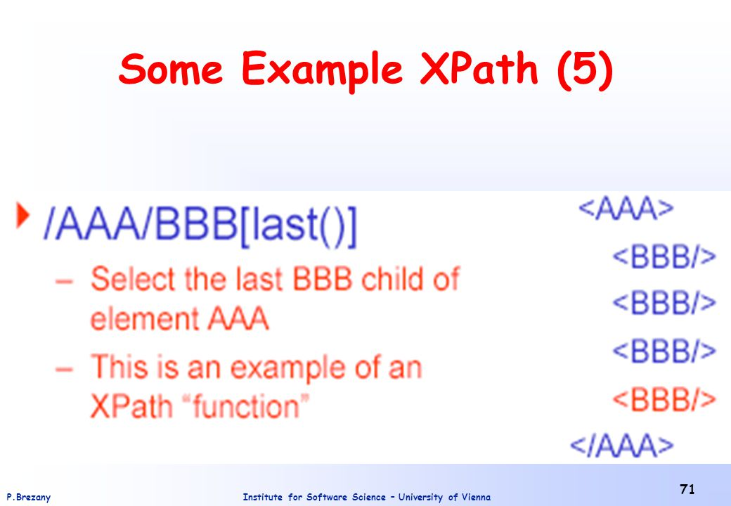 Some Example XPath (5)