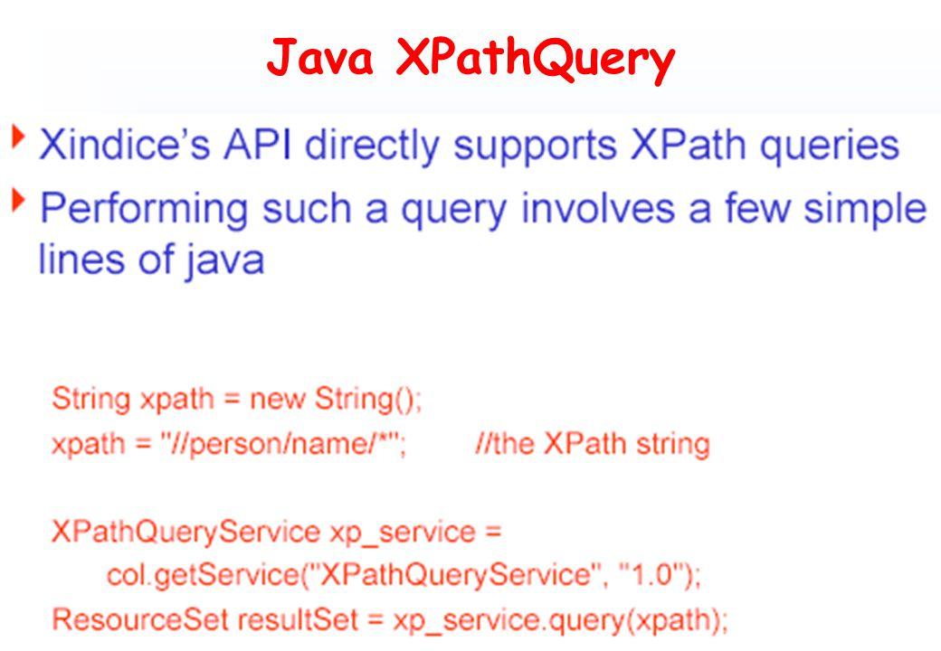 Java XPathQuery
