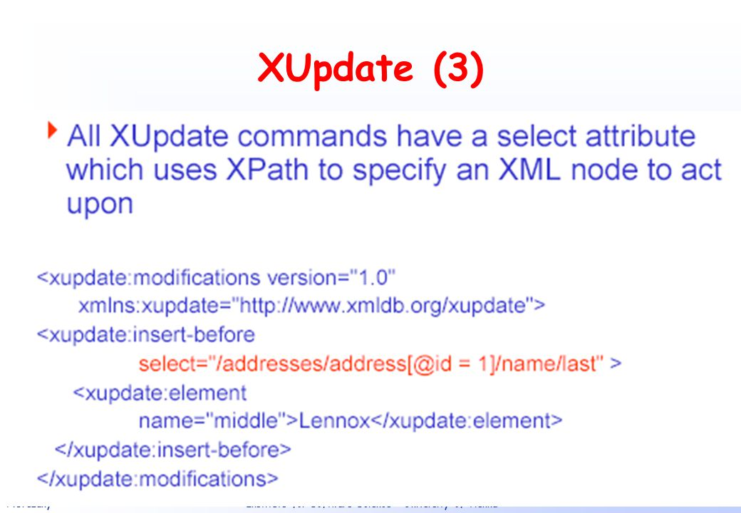 XUpdate (3)