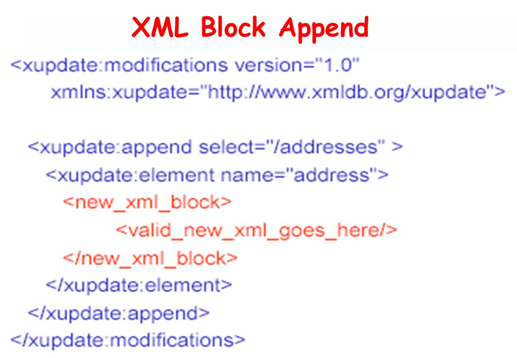 XML Block Append