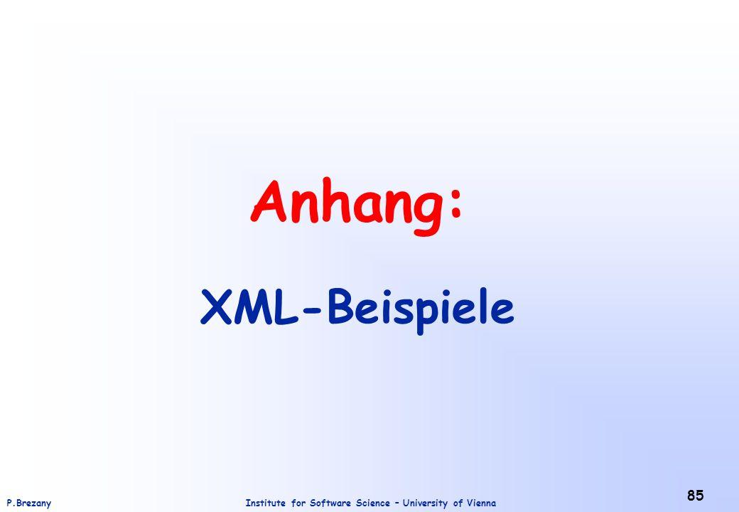 Anhang: XML-Beispiele
