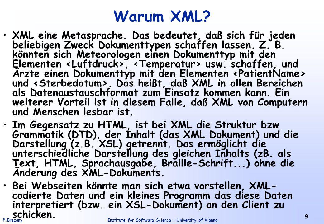 Warum XML