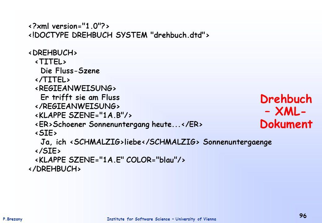 Drehbuch – XML-Dokument