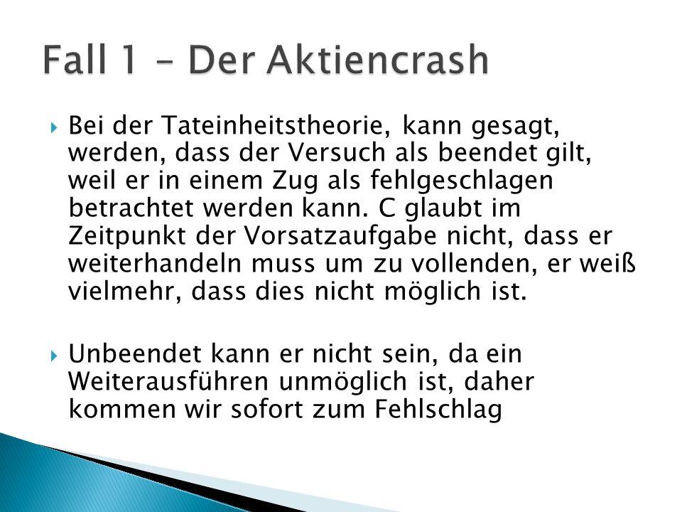 Fall 1 – Der Aktiencrash