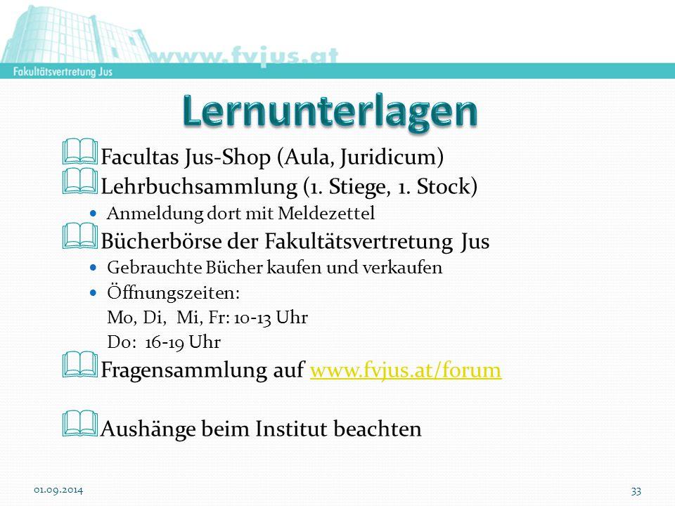 Lernunterlagen Facultas Jus-Shop (Aula, Juridicum)