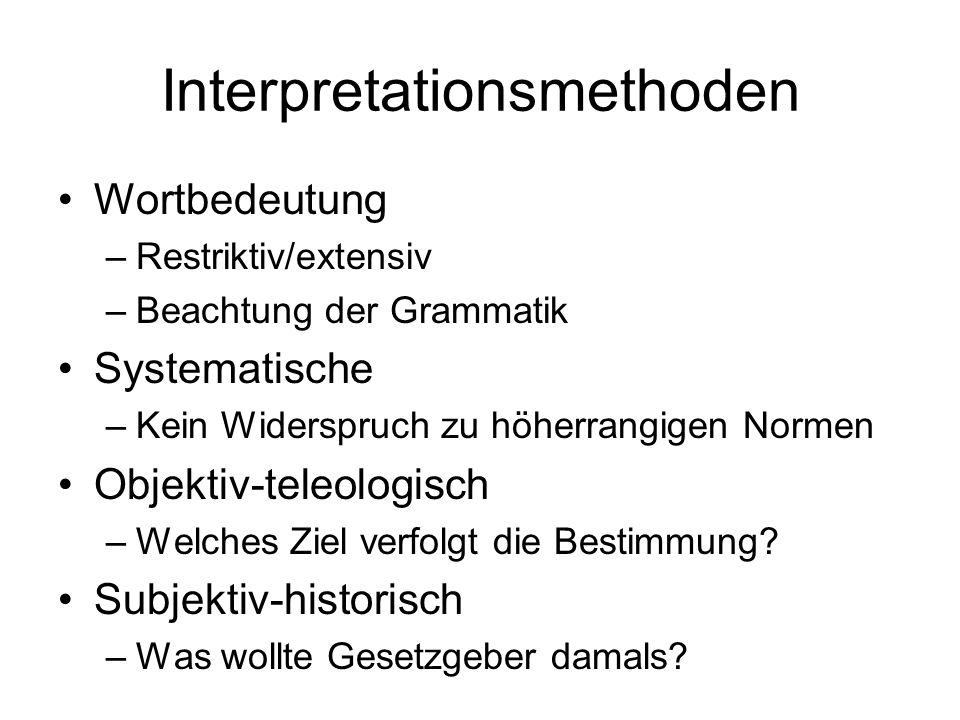 Interpretationsmethoden