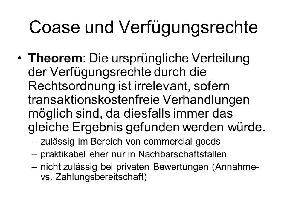 Coase und Verfügungsrechte