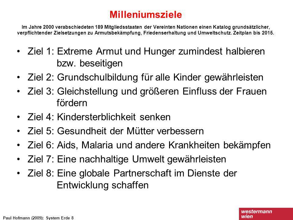 Ziel 1: Extreme Armut und Hunger zumindest halbieren bzw. beseitigen