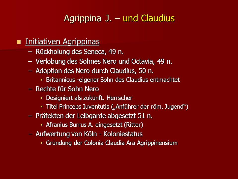 Agrippina J. – und Claudius